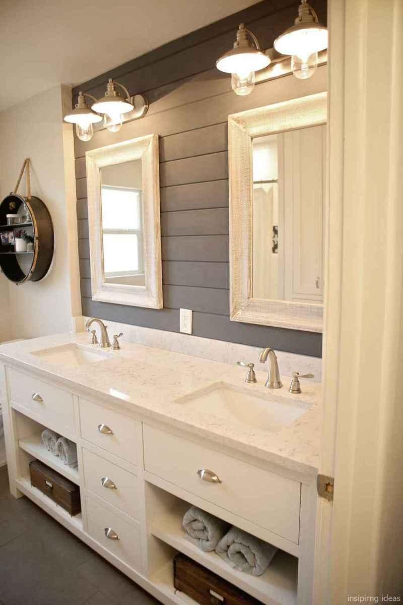50 modern farmhouse small bathroom wall color ideas 41