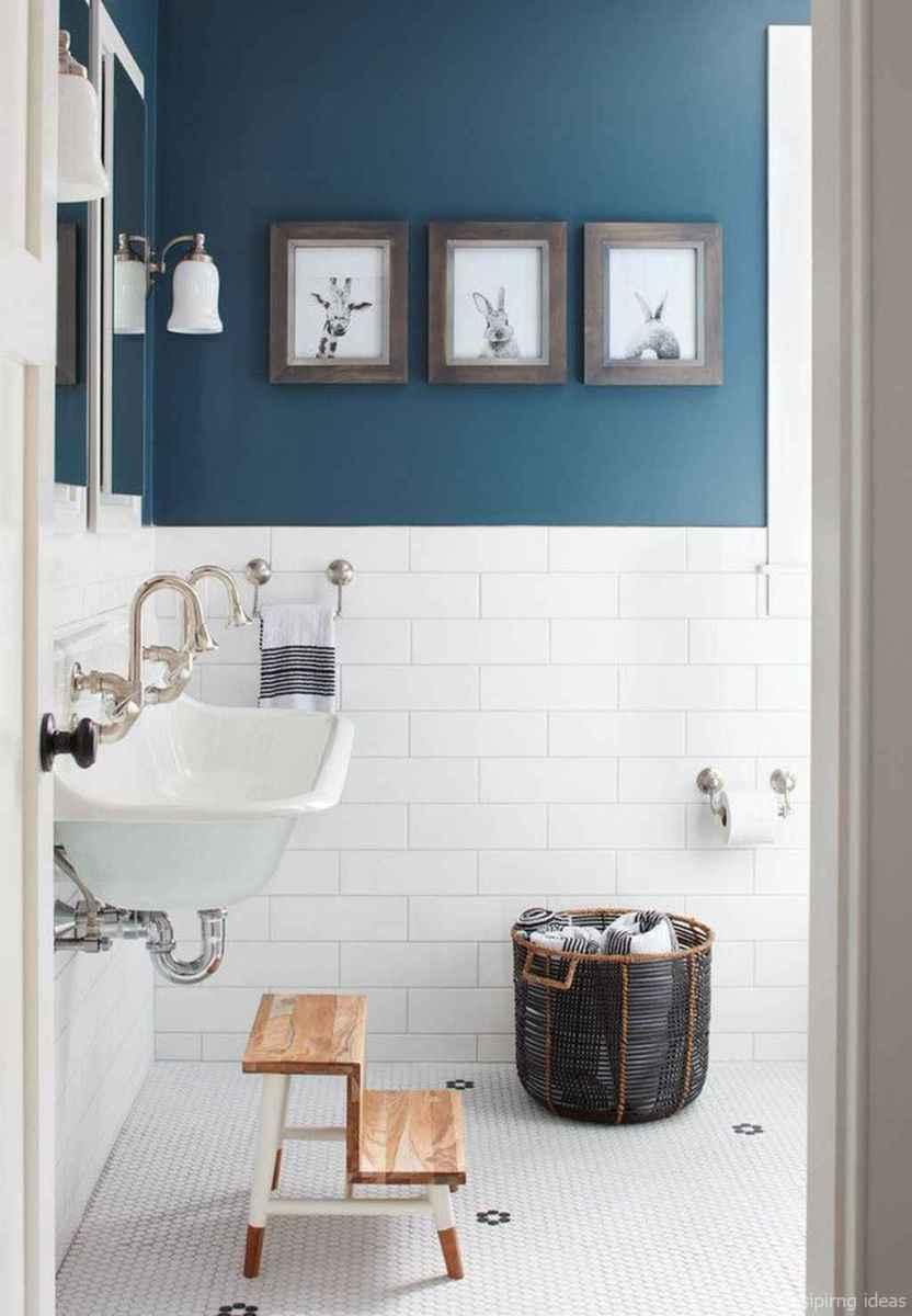 50 modern farmhouse small bathroom wall color ideas 6
