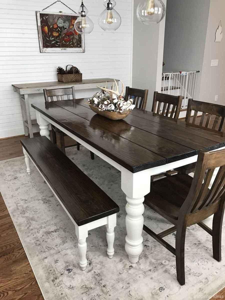 Awesome farmhouse kitchen table design ideas 17