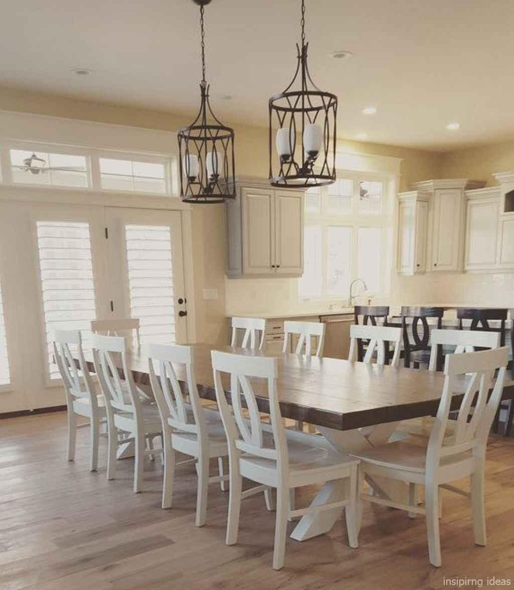 Awesome farmhouse kitchen table design ideas 25