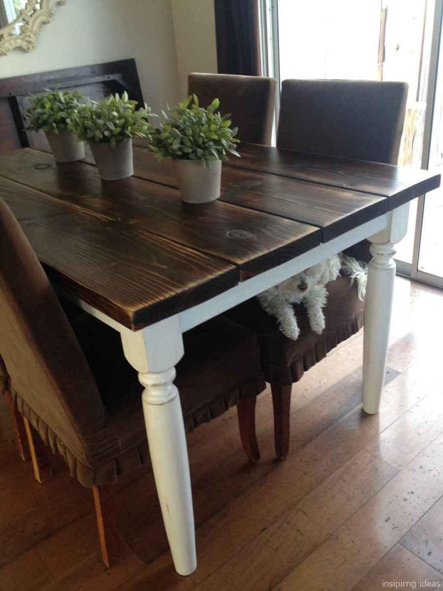 Awesome farmhouse kitchen table design ideas 34