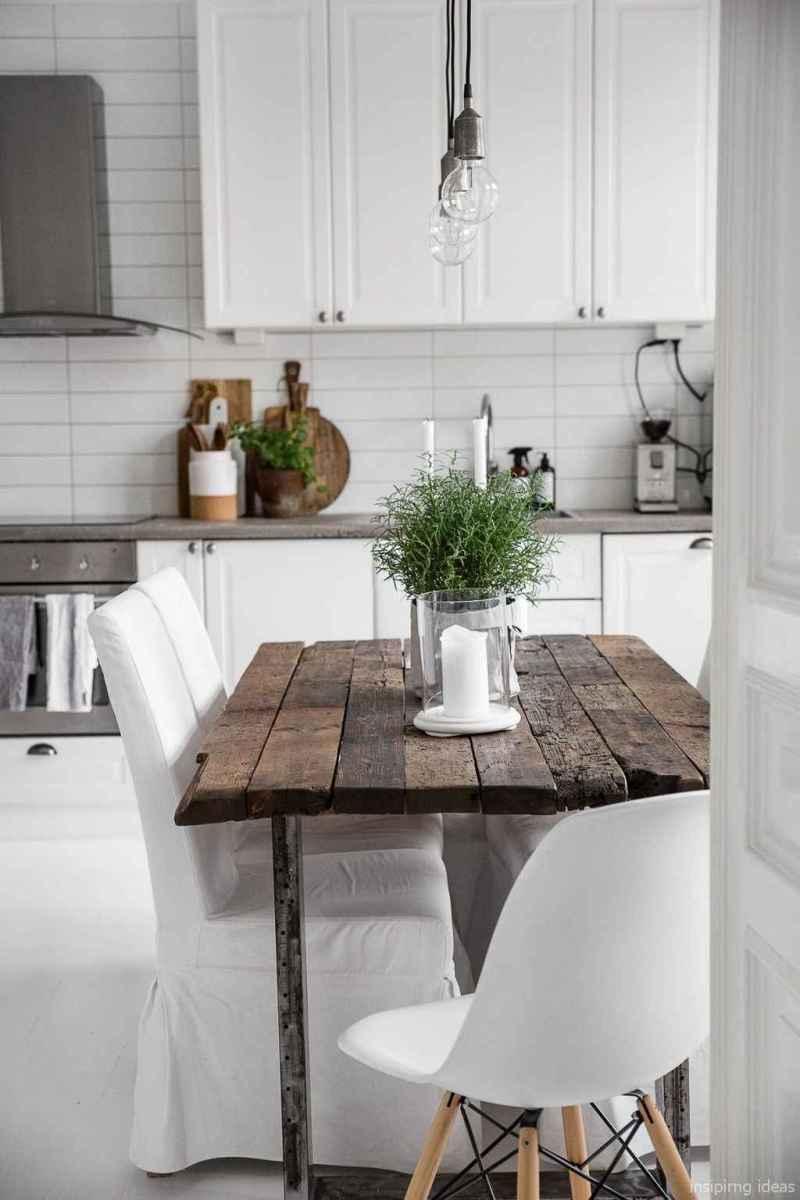 Awesome farmhouse kitchen table design ideas 37