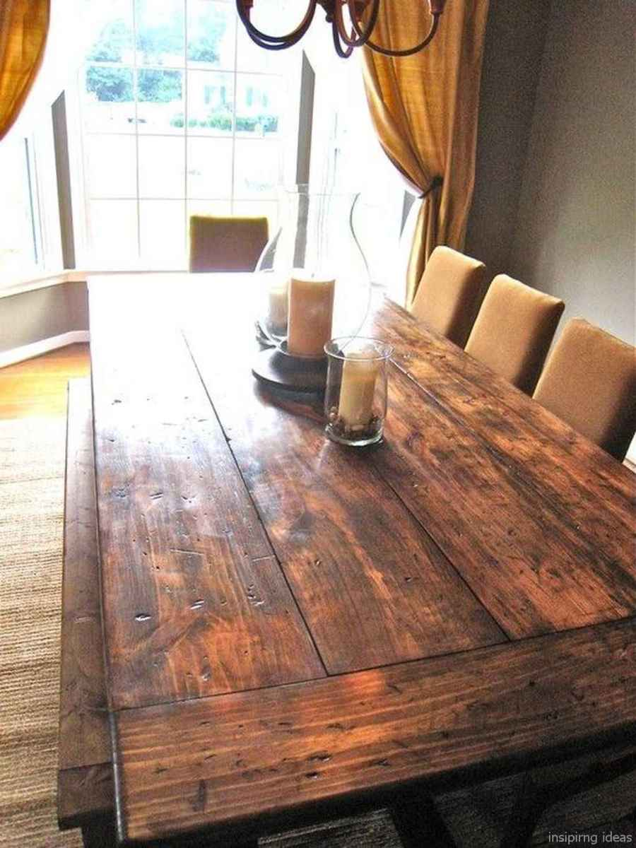 Awesome farmhouse kitchen table design ideas 51
