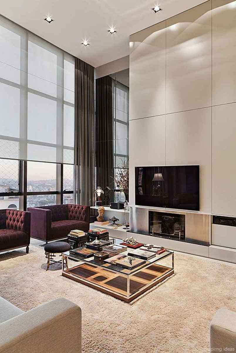 Cozy modern apartment living room decorating ideas on a budget 02