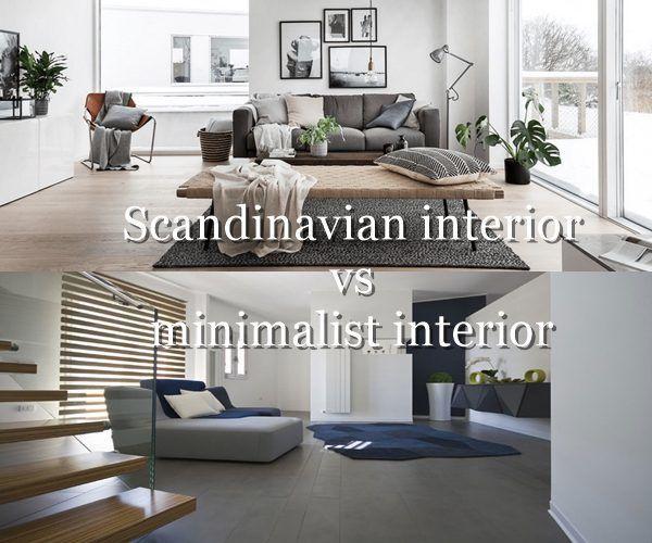 Scandinavian interior vs minimalist interior