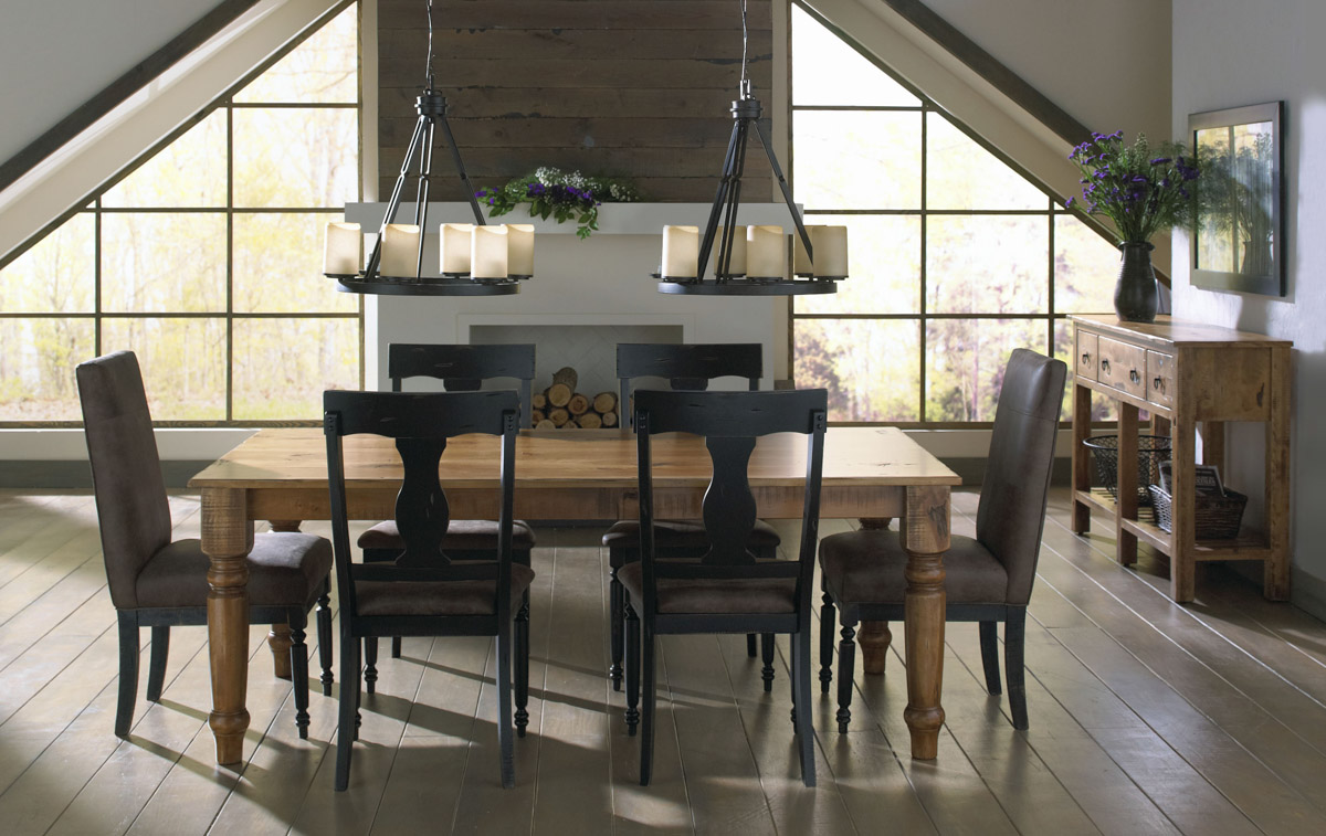leather living room furniture sets ideas distressed dining | canadel champlain collection