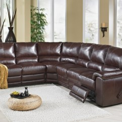 Leather Sectional Sofas With Power Recliners Feather Filling For Sofa Cushions Australia Elran Rain - Room Concepts