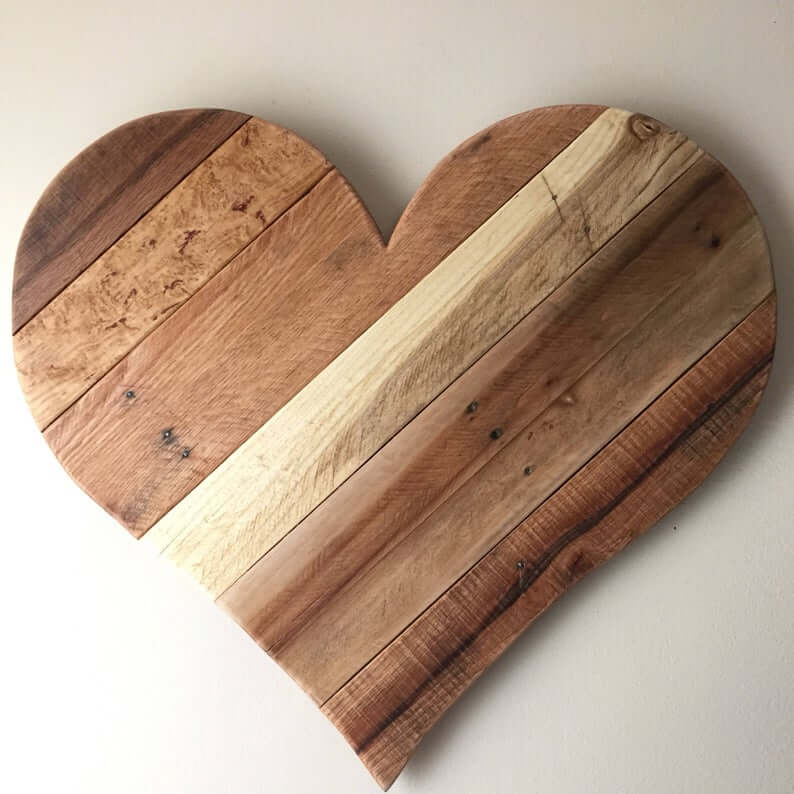 Rustic Wood Heart Home Decor