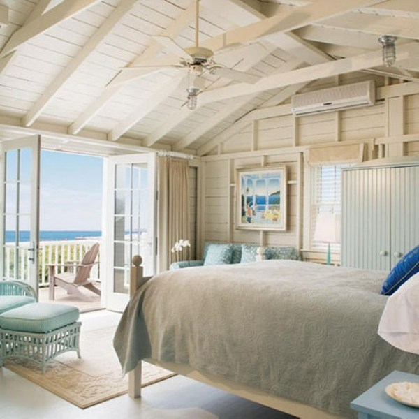 beach house bedroom Beautiful Beach Homes Ideas and Examples