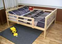 Platform Bed with Guard Rail Versa Style
