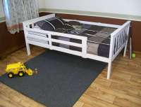 Platform Bed with Guard Rail Versa Style - Twin or Full Size