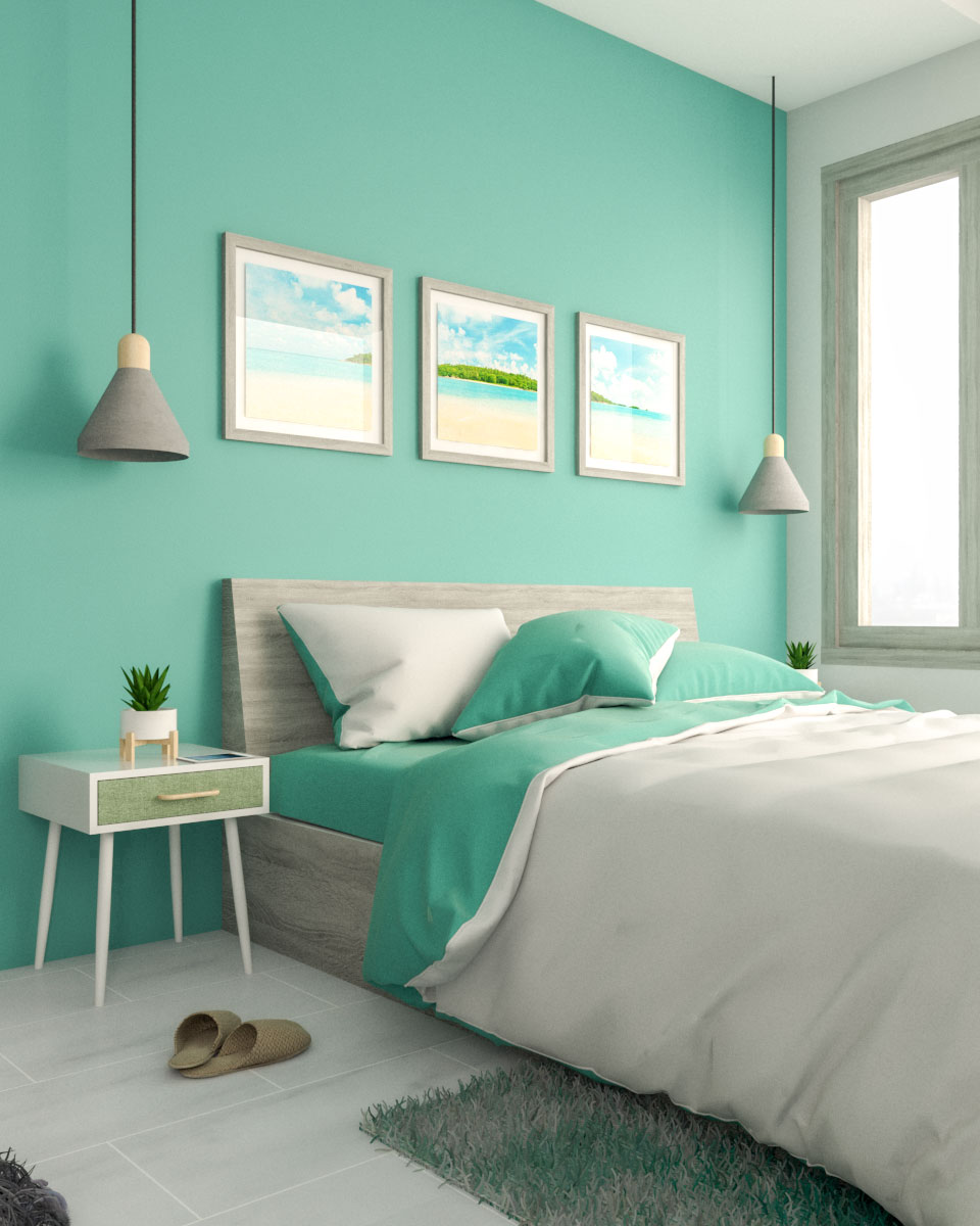 Teal And Grey Bedroom Decor Idea Roomdsign Com