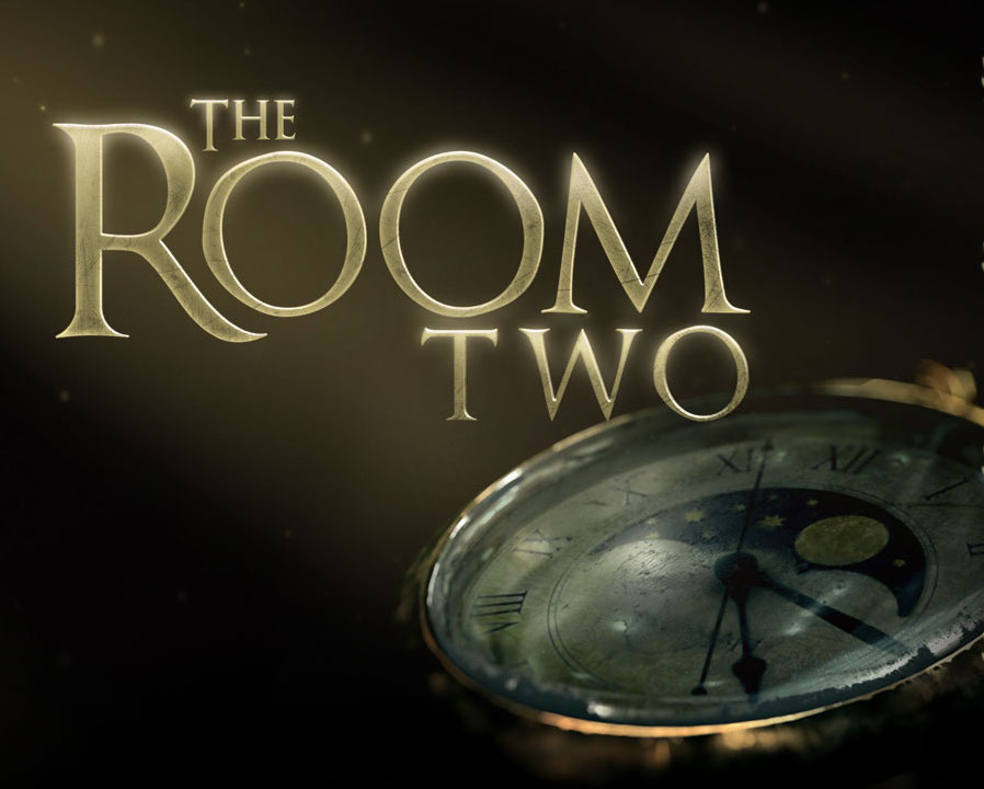 The Room Two logo depicting an old pocket watch.