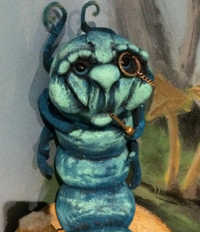 A hookah-smoking caterpillar