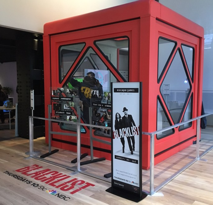 Image of the Blacklist Box red cube play area.