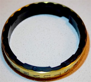 Close up of a cryptex ring.