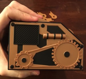 The left side of the Chrono Decoder had engravings for part of a basic substitution machine.