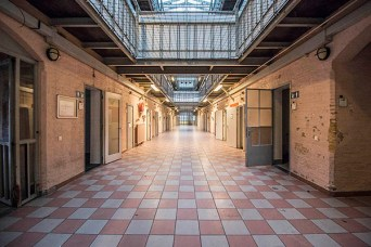 A long hallway in the Prison Dome Breda.