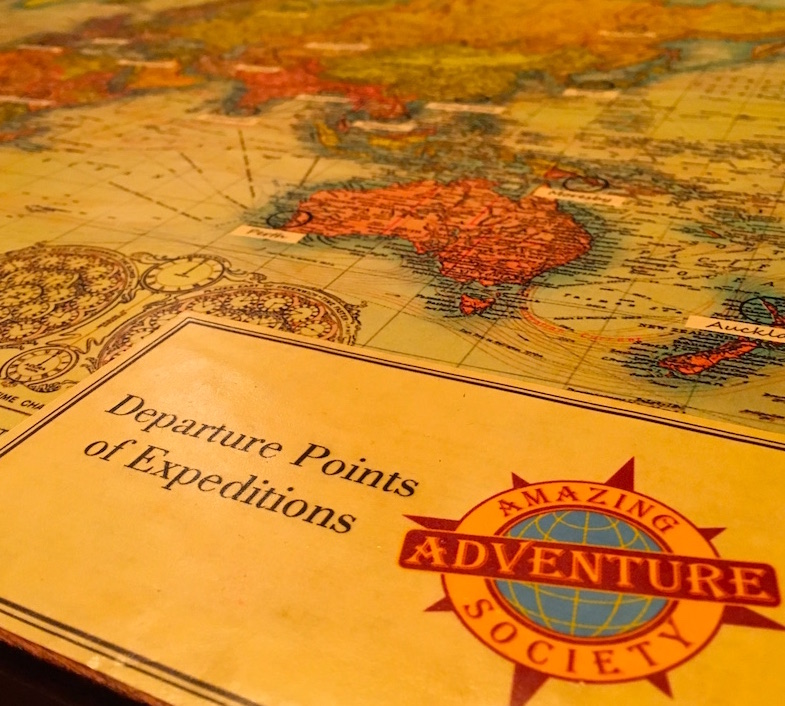 In-game: Amazing Adventure Society Departure Points of Expeditions Map