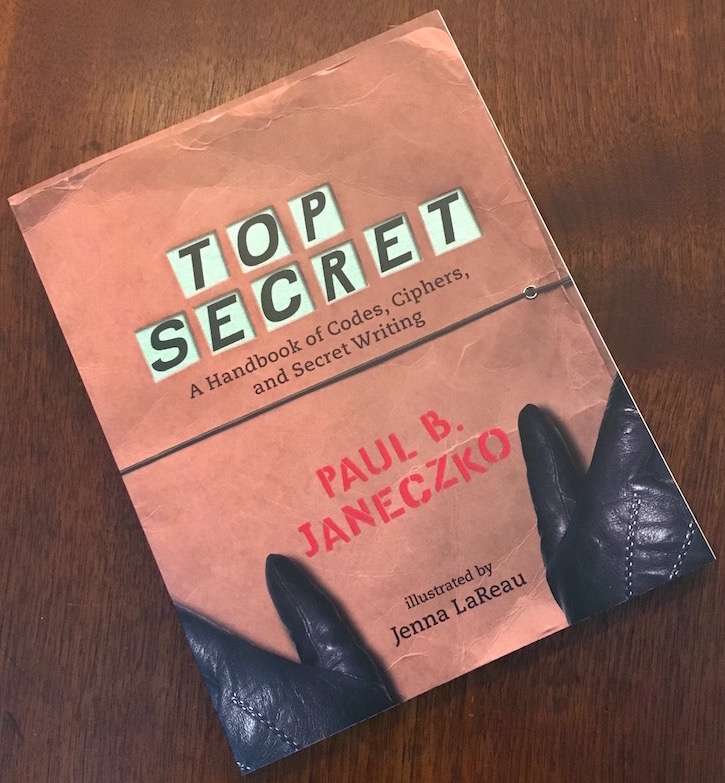 Book cover for Top Secret, looks like a brown folder being held by a pair of black gloved hands.