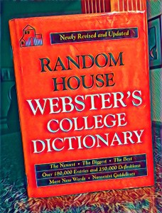 Stylized image of a Webster's College Dictionary
