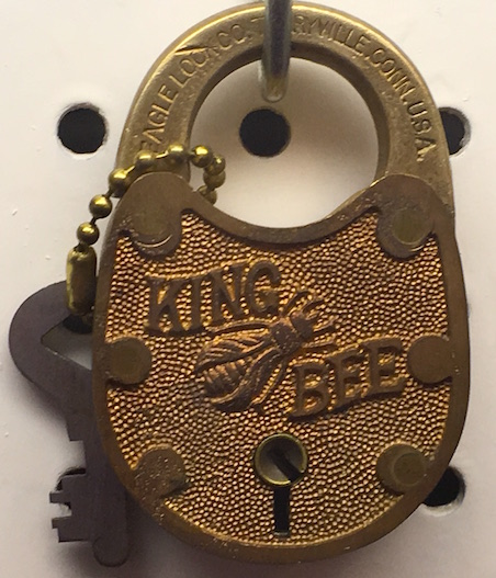 Eagle Lock King Bee padlock.