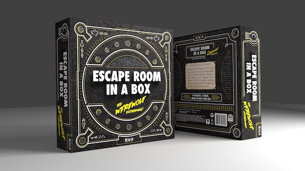 Box art for Mattel's Escape Room in a Box.