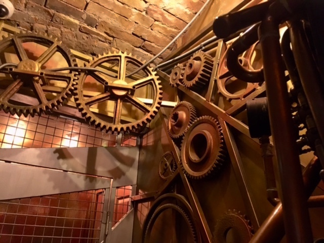 In-game: an intricate array of gears