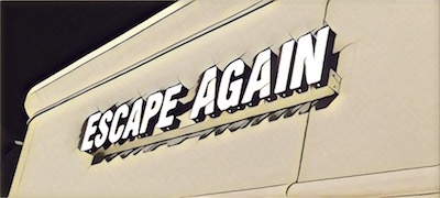 Escape Again logo stylized.
