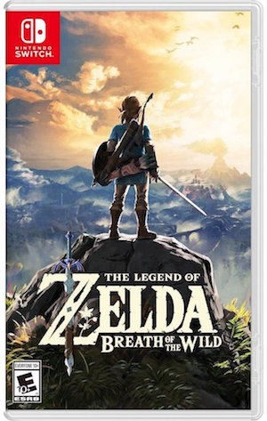 The majestic cover art for The Legend of Zelda Breath of the Wild.