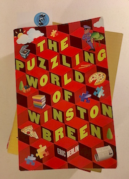 The cover art for the first volume of The Puzzling World of Winston Breen.