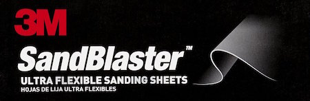3M SandBlaster ultra flexible sanding sheets logo.