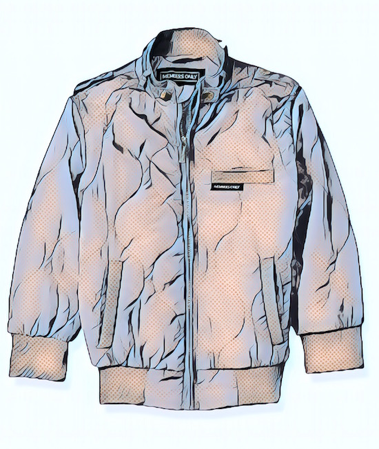 Comic book-ified Members Only jacket
