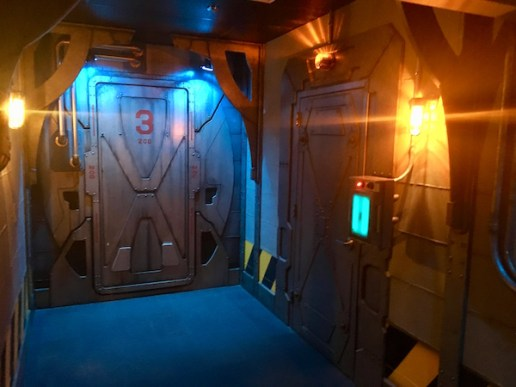 LiveMinds' lobby, a high tech series of halls and metal doors. The detail is incredible.
