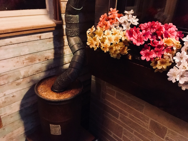 In-game: a flower box outside of a business.