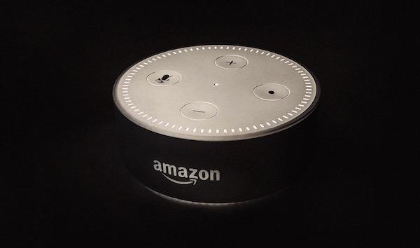 An Amazon Echo Dot.