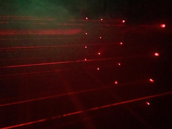 A laser maze.