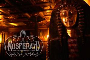 In-game: An Egyptian sarcophagus in a Victorian setting.