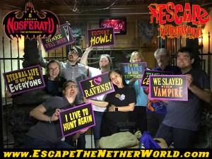 Nosferatu team post-game photo.