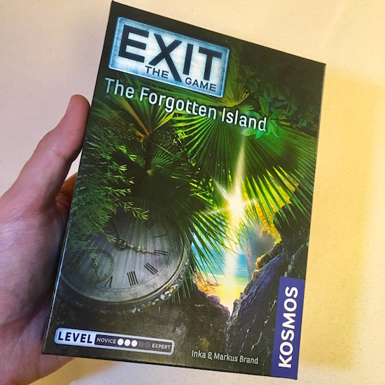 The tropical island cover of Exit: The Game's The Forgotten Island.