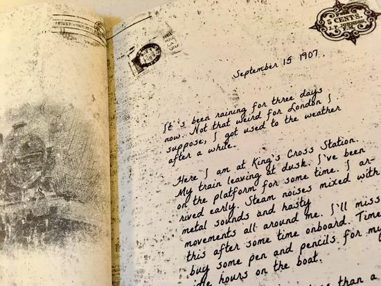 A long hand-written prose journal entry dated September 15 1907.