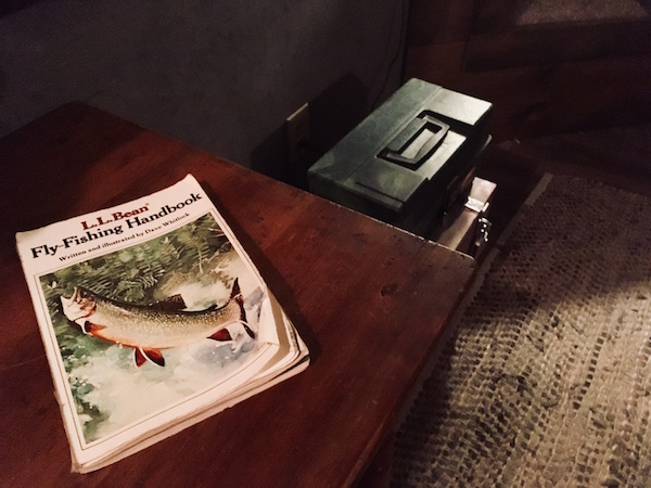 In-game: the LL Bean Fly Fishing Handbook.