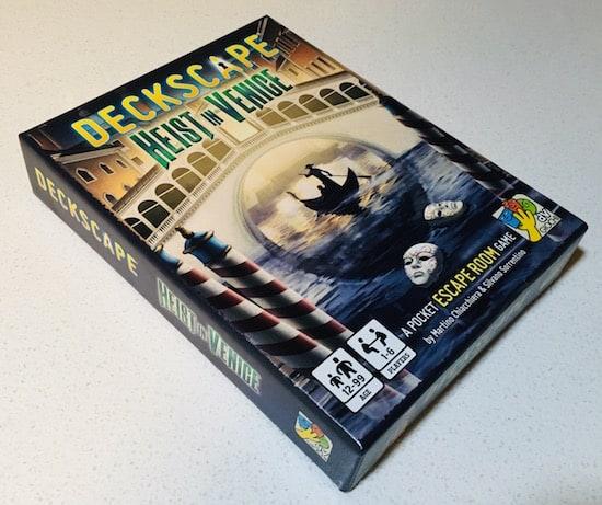 The box for Deckscape Heist in Venice.
