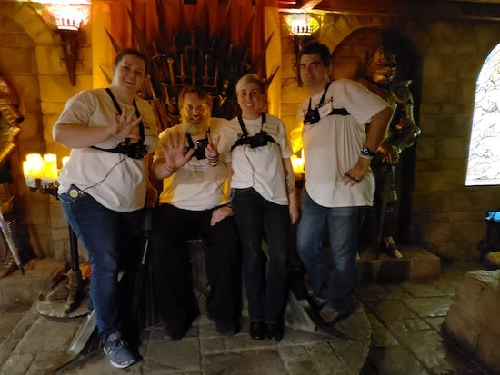 Game 12 post-game photo on the Iron Throne