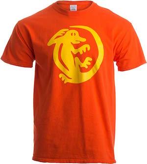 Orange Iquanas shirt