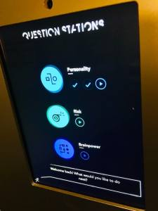 A question stations selection menu.