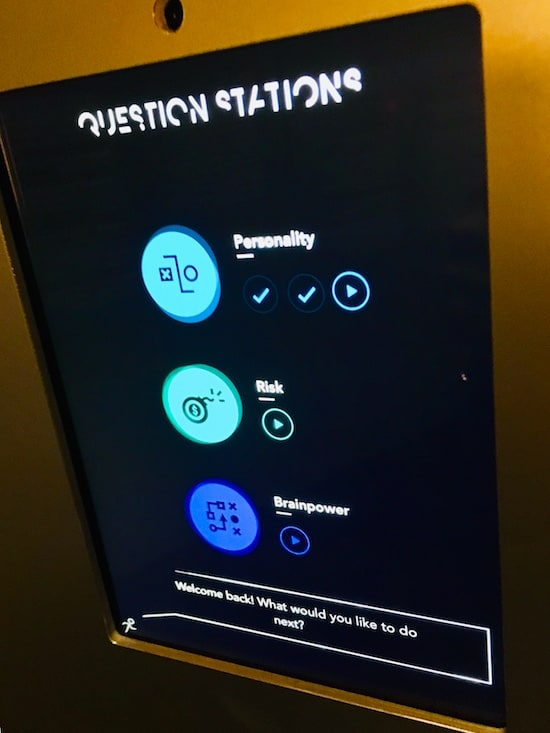 A question stations selection menu.