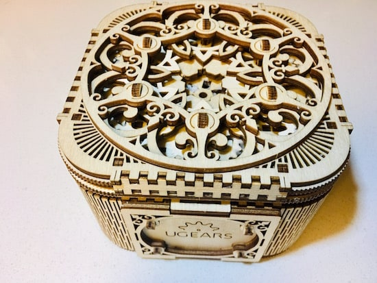 Ornate top of the completed Treasure Box