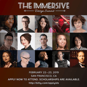 Immersive Design Summit 2019 speaker grid.