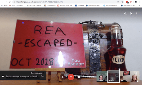 Google Hangout: The post-game image declaring that we escaped, and depicting the elixer.